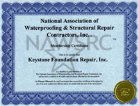 certificate for basement waterproofing and structural repair